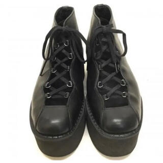 ヨウジヤマモト(Yohji Yamamoto)の美品本革ヨウジヤマモト 厚底 レザー シューズ(ローファー/革靴)