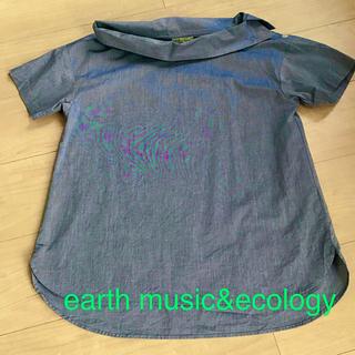 earth music & ecology - アースミュージック&エコロジー 半袖ブラウス ブルー