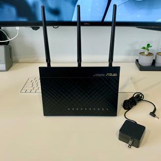 エイスース(ASUS)のASUS WiFi 無線LAN ルーター RT-AC68U(PC周辺機器)