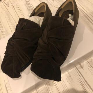 メリージェニー(merry jenny)の【新品未使用】merry jenny スエードリボン ローファー S(ローファー/革靴)