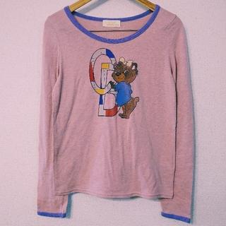 ダブルクローゼット(w closet)のWクローゼット★くまプリントロンT(Tシャツ(長袖/七分))