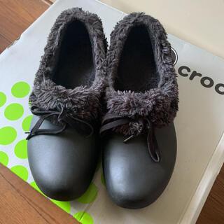 クロックス(crocs)のクロックスファ〜ブラック 24cm(スリッポン/モカシン)