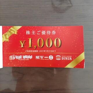 ヴィレッジヴァンガード 株主優待券 10枚(ショッピング)