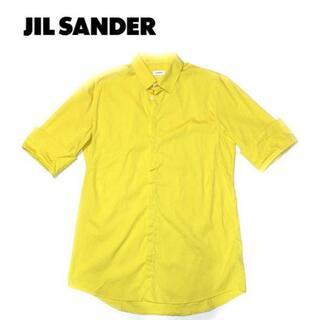 ジルサンダー(Jil Sander)の JIL SANDERジルサンダー/5分丈シャツ/40/イエロー Italy(シャツ)