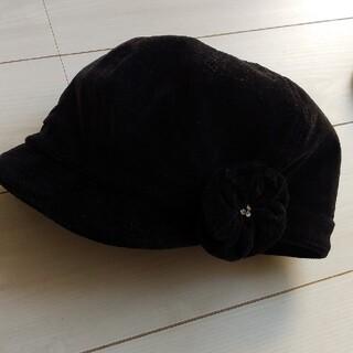 シマムラ(しまむら)の帽子 黒 (キャスケット)