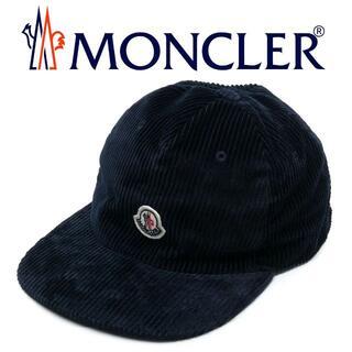 MONCLER - 16 MONCLER ネイビー コーディロイ キャップ 帽子 男女兼用