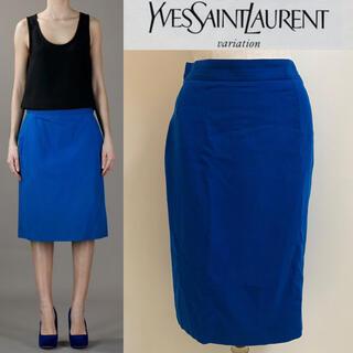 サンローラン(Saint Laurent)のYVES SAINT LAURENT variation フランス製 スカート(ひざ丈スカート)
