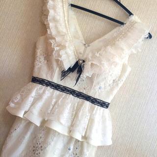ROBE - ローブドフルール ホワイト ドレス