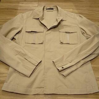 セオリー(theory)のtheory ジャケット シャツ ベージュ 比翼仕立て 38サイズ(シャツ/ブラウス(長袖/七分))