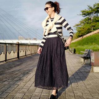 ツルバイマリコオイカワ(TSURU by Mariko Oikawa)のTsuru by Mariko Oikawa レースチュールスカート(ロングスカート)