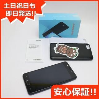 エイスース(ASUS)の美品 SIMフリー ZenFone 4 Max ネイビーブラック (スマートフォン本体)