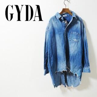 ジェイダ(GYDA)の未使用タグ付き GYDA ジェイダ センターバックスリットデニム(シャツ/ブラウス(長袖/七分))