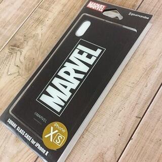 マーベル(MARVEL)のMARVEL iPhoneX/Xs 硬質ガラス素材 スマホケース MV131B(iPhoneケース)
