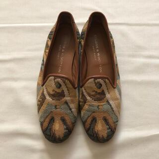 ユナイテッドアローズ(UNITED ARROWS)のスタブス&ウートンSTUBBS& WOOTONオペラシューズ ゴブランローファー(ローファー/革靴)