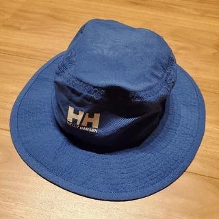 ヘリーハンセン(HELLY HANSEN)の未使用に近い ヘリーハンセン サンシェード付きハット キッズフリーサイズ ブルー(帽子)