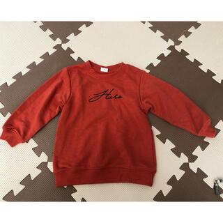 デビロック(DEVILOCK)のdevirock キッズ ロゴ トレーナー オレンジ 100cm(Tシャツ/カットソー)