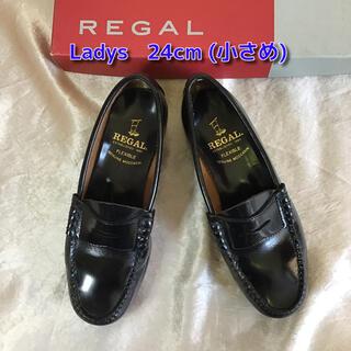 リーガル(REGAL)のリーガル コインローファー23.5cm相当 ブラック ビジネスシューズ 革靴(ローファー/革靴)