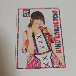 エイチケーティーフォーティーエイト(HKT48)のHKT48 坂口理子 ポケットスクールカレンダー(74億分の1の君へ)(アイドルグッズ)