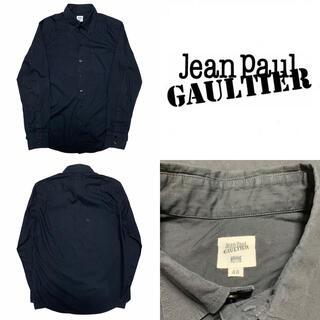 ジャンポールゴルチエ(Jean-Paul GAULTIER)の定番 JEAN PAUL GAULTIER ゴルチエ ブラック コットン シャツ(シャツ)