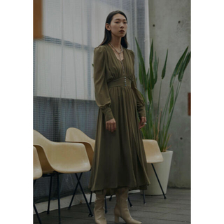アメリヴィンテージ(Ameri VINTAGE)のアメリヴィンテージ SOPHIA LAYERED DRESS(ロングワンピース/マキシワンピース)