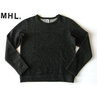 マーガレットハウエル(MARGARET HOWELL)の美品 MHL. ウールコットン ニットトレーナー M 日本製(ニット/セーター)
