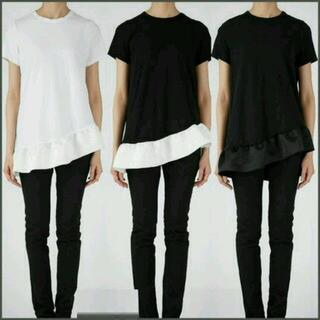 ドゥロワー(Drawer)のYOKO CHAN アシンメトリーフリル Tシャツ(Tシャツ(半袖/袖なし))