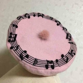 ミルク(MILK)のMILK ミルク 音符 ベレー帽 ピンク KERA(ハンチング/ベレー帽)