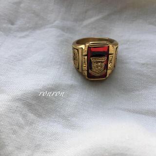 ハイク(HYKE)のカレッジリング赤ステンレスUS8 高品質♡ロンハーマン TOGA トゥデイフル(リング(指輪))
