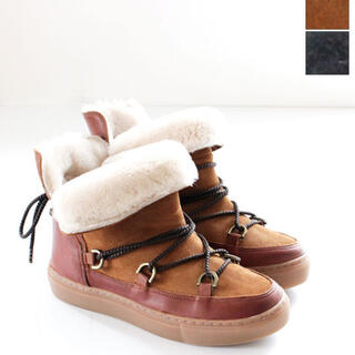 ユナイテッドアローズ(UNITED ARROWS)の半額 新品 ファエダ スエード ファー ブーツ(ブーツ)