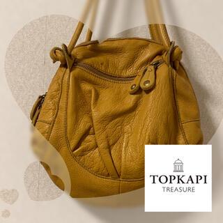 トプカピ(TOPKAPI)のトプカピ★ ハンドバッグ 革 イエロー 黄色 コーディネートのアクセントに♪(ハンドバッグ)