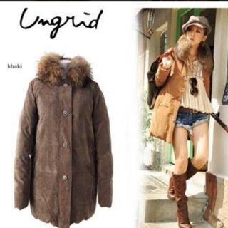 アングリッド(Ungrid)の大人気完売 アングリッド ファー襟 ダウンコート 美品(ダウンコート)