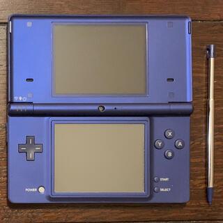 ニンテンドーDS(ニンテンドーDS)のNintendo DSi 本体 メタリックブルー クロコ柄ケース ソフト3本(家庭用ゲーム機本体)