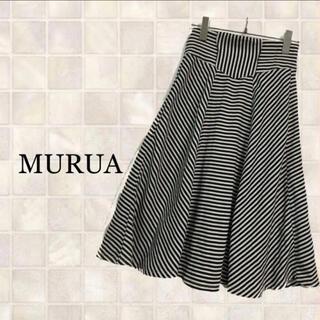ムルーア(MURUA)のMURUA ムルーア ひざ丈スカート M(ひざ丈スカート)