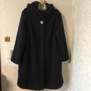 フランシュリッペ(franche lippee)のパールブローチ暖かコート(ロングコート)
