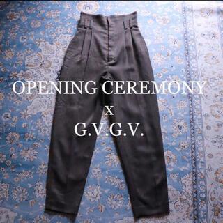 ジーヴィジーヴィ(G.V.G.V.)のOPENING CEREMONY x G.V.G.V. ハイウエストスラックス(カジュアルパンツ)