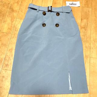 サリア(salire)のsalire  スカート Mサイズ 新品未使用品タグ付き(ひざ丈スカート)