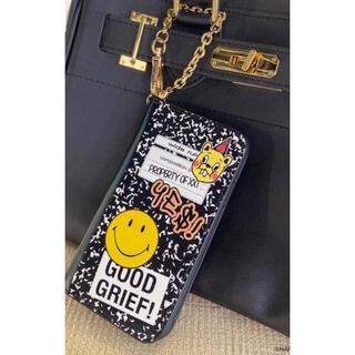 アパルトモンドゥーズィエムクラス(L'Appartement DEUXIEME CLASSE)の新品タグ付 GOOD GRIEF! SMILE iphoneX用cover (iPhoneケース)