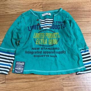 キムラタン(キムラタン)の長袖 Tシャツ トップス 95cm 男の子 キムラタン ストライプ 緑 グリーン(Tシャツ/カットソー)
