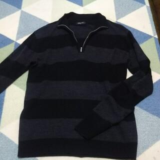 コムサイズム(COMME CA ISM)のメンズセーター(黒/グレー)(ニット/セーター)