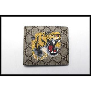 グッチ(Gucci)のGUCCI GGスプリーム タイガー 2つ折り財布■10ak29244202(折り財布)