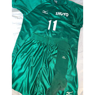 MIZUNO - ミズノ 松陽高校 サッカー部 ユニフォーム 緑と白セット