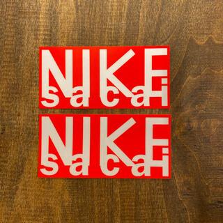サカイ(sacai)のsacai ステッカー2枚 NIKEナイキ サカイ 限定ステッカー 非売品シール(その他)
