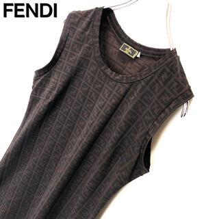 フェンディ(FENDI)のFENDI フェンディ ズッカ柄 ミニ チュニック ワンピース 古着 イタリア製(ミニワンピース)