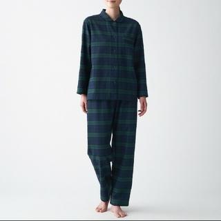 MUJI (無印良品) - 脇に縫い目のない フランネルパジャマ レディース