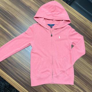 ポロラルフローレン(POLO RALPH LAUREN)のラルフローレン 女の子 ピンク パーカー 140(ジャケット/上着)