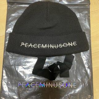 ピースマイナスワン(PEACEMINUSONE)のpeaceminusone KNIT CAP(BLACK)(ニット帽/ビーニー)