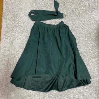 イングファースト(INGNI First)のINGNIfirstモスグリーンスウェード風フィッシュテールスカート☆130cm(スカート)