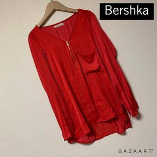 ベルシュカ(Bershka)のBershka♡サテンブラウス トップス(シャツ/ブラウス(長袖/七分))