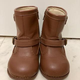 コムサイズム(COMME CA ISM)のIFME イフミー 15センチ ブーツ 茶 女の子 靴 長靴(長靴/レインシューズ)