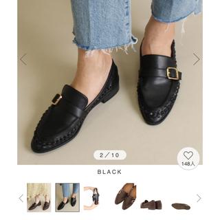 ランダ(RANDA)のRANDA ソフトローファーシューズ ブラック(ローファー/革靴)